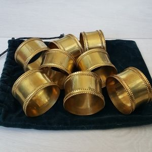 Other - 8 Vintage Brass Napkin Rings